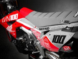Josh Hansen CRF450R 2020 Graphics Grey Seat Gray